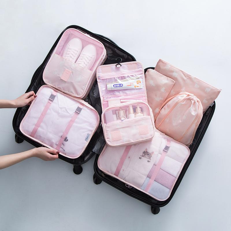 粉色羊驼7件套