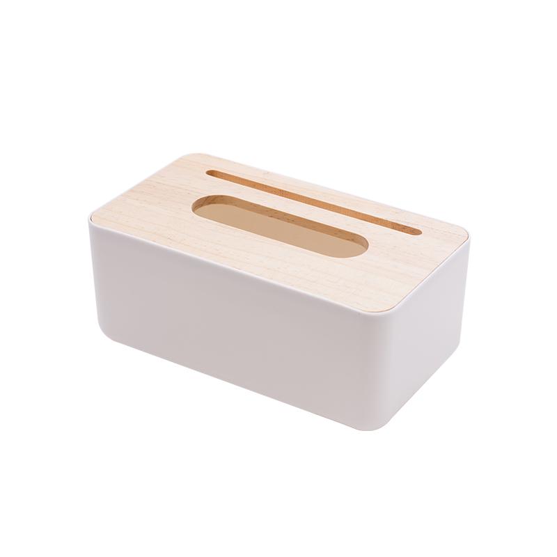 大号手机槽白色纸巾盒