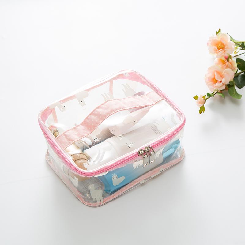 粉色羊驼四方手提包大号