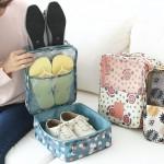 高品质 防水旅行收纳包实用便携鞋子双层收纳袋鞋类整理包(全检)