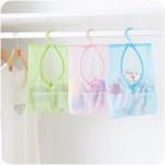 创意可挂式多用途收纳网袋收纳袋晒衣挂袋浴室多用挂袋