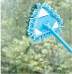 懒人清洁拖把 可替换雪尼尔拖布 三角形360度伸缩方便无死角拖把