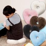 特价 特价 日本木晖 舒适毛绒心形抱枕 椅子沙发垫 坐垫 靠垫