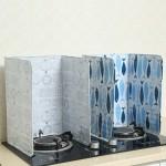创意印花隔油铝箔挡板 厨房煤气灶台隔热挡油板