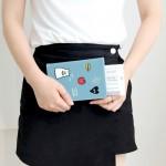 donbook韩国可爱小幽灵旅行护照夹短款护照套男女防消磁证件包(044)