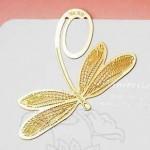 特价 韩国bookzzicard创意18K镀金可爱书签--蜻蜓