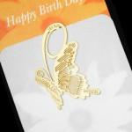特价 韩国bookzzicard创意18K镀金可爱书签--蝴蝶