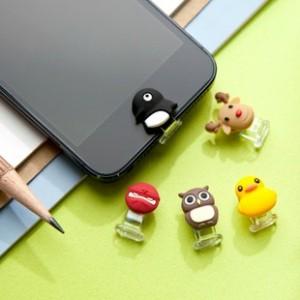 特价 特价 台湾Bone iphone  ipad  可爱动物按钮贴 手机防尘塞