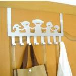 特价 幸福一家人不锈铁门背式多用挂钩 免钉门后挂钩