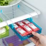 特价 创意厨房用品抽动式置物盒 冰箱保鲜隔板层多用收纳架(大号)