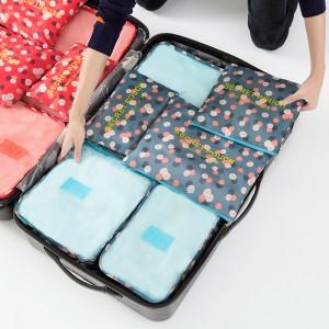 高品质! 防水衣服旅行收纳袋套装 出差旅游必备行李箱衣物内衣整理袋 六件套(全检)