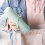 小麦秸秆便携式旅行牙刷杯 牙刷牙膏收纳盒洗漱杯