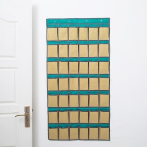 特价 42格牛津布手机挂袋 宿舍教室壁挂收纳袋 多层置物袋 门墙挂兜 插卡