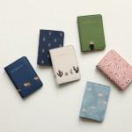 韩国可爱小清新动植物旅行护照夹短款护照套证件包(047)