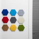 Thehaki 韩国创意毛毡六角形智力板多功能彩色置物墙贴装饰板壁饰