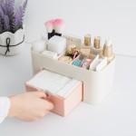 抽屉化妆品收纳盒化妆刷整理盒 桌面首饰护肤品分格梳妆盒