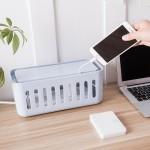 电线收纳集线盒插线板保护套 桌面电源线插座数据线收纳盒