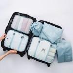旅行收纳袋行李内衣收纳袋旅游整理袋衣物衣服收纳包套装(七件套)