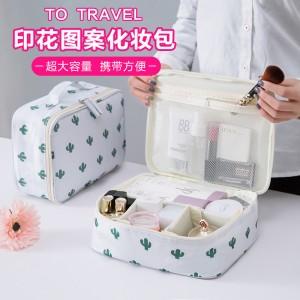 旅行化妆包便携收纳包便携出差手提小号淑女迷你化妆箱品袋洗漱包