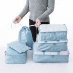 旅行收纳袋行李内衣收纳袋整理袋旅游衣物衣服收纳包套装(六件套)
