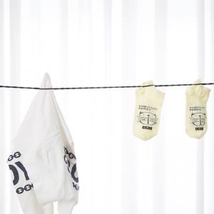 户外旅行晾衣绳 吸盘式晒衣绳 便携挂衣绳