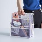 法蒂希 气质网格透气多口袋手提包中包杂物整理包内胆包