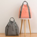 旅行双肩背包带抽绳 便携旅游大容量阳离子防水旅行手提包行李袋