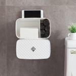 创意壁挂式纸巾架 免打孔纸巾盒抽纸架餐巾纸收纳架