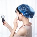 一次性浴帽防水头套帽成人女款厨房帽子防油帽淋浴家用洗澡头发帽