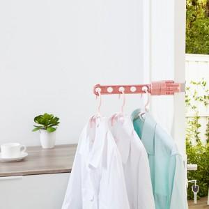 室内塑料晾衣架窗台晾晒衣服架创意多功能阳台窗外收纳挂钩挂衣架