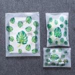 法蒂希透明旅行收纳袋防水密封袋衣物旅游行李衣服打包收纳整理袋(叶子)