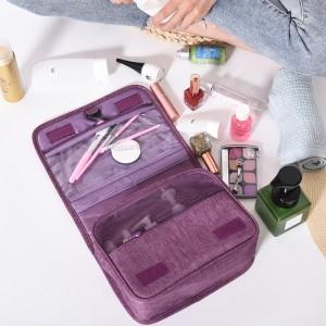 便携化妆包 大容量简约多功能收纳包 户外旅行挂钩洗漱包