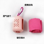 速干毛巾硅胶收纳超细纤维冰巾旅行便携户外健身房冷感运动毛巾