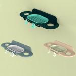 沐浴露香皂牙膏牙刷置物架 无痕贴免打孔卫生间收纳架子可挂钩式