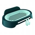 单层香皂盒免钉无痕粘贴浴室沥水皂盒架肥皂托带挂钩