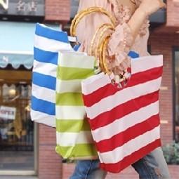 特价 特价  日式家居自然元素手提包 条纹时尚包