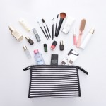 旅行出差条纹化妆收纳包大容量便携拒水洗漱包女