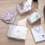 旅行收纳套装行李箱整理包衣物分装袋化妆包六件套