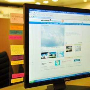 特价 韩国进口文具 电脑显示器用便利贴留言贴板-30CM左侧