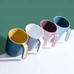 创意简约漱口杯喝水杯子几何菱形刷牙杯家用情侣牙刷杯洗漱杯牙缸