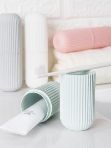 旅行洗漱杯多功能便携式漱口刷牙杯子创意情侣牙刷牙膏收纳盒套装