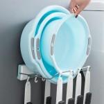 脸盆架壁挂浴室卫生间置物架洗手间盆子折叠收纳免打孔放脸盆架子