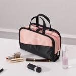 ins化妆包网红便携简约大容量透明多功能少女心随身洗漱包收纳包