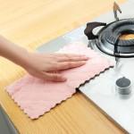 双色双面吸水洗碗布不沾油加厚擦桌布 5条装抹布