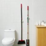 免钉多功能无痕拖把架收纳拖把挂钩卫生间浴室壁挂扫把挂架拖把夹