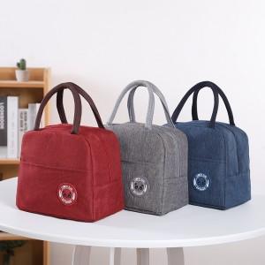 新款阳离子牛津布双手提加厚铝箔饭盒袋便当包保温袋带饭午餐袋