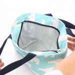 棉麻小清新便携便当包饭盒包便携台湾野餐包