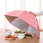 可折叠菜罩大号食物食品罩伞罩餐桌饭菜盖菜保温伞罩防蝇罩