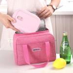 新手提饭盒袋保温袋小号方形牛津布便当包加厚阳离子铝箔饭餐包