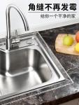 厨房水池防水贴纸浴室卫生间水槽台面挡水条防霉防潮防油美缝贴条透明单面